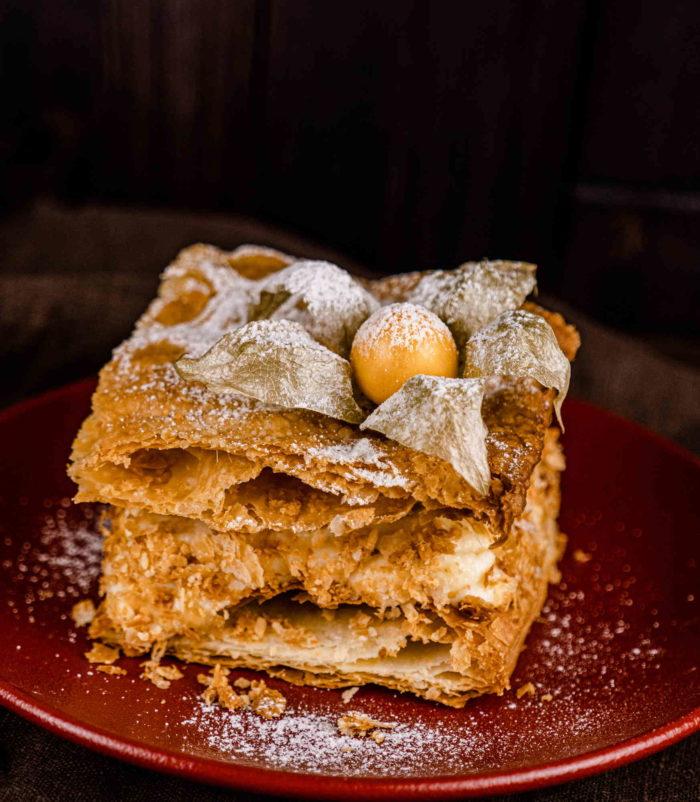 Мильфей с малиной доставка тортов и десертов ресторан Лабиринт