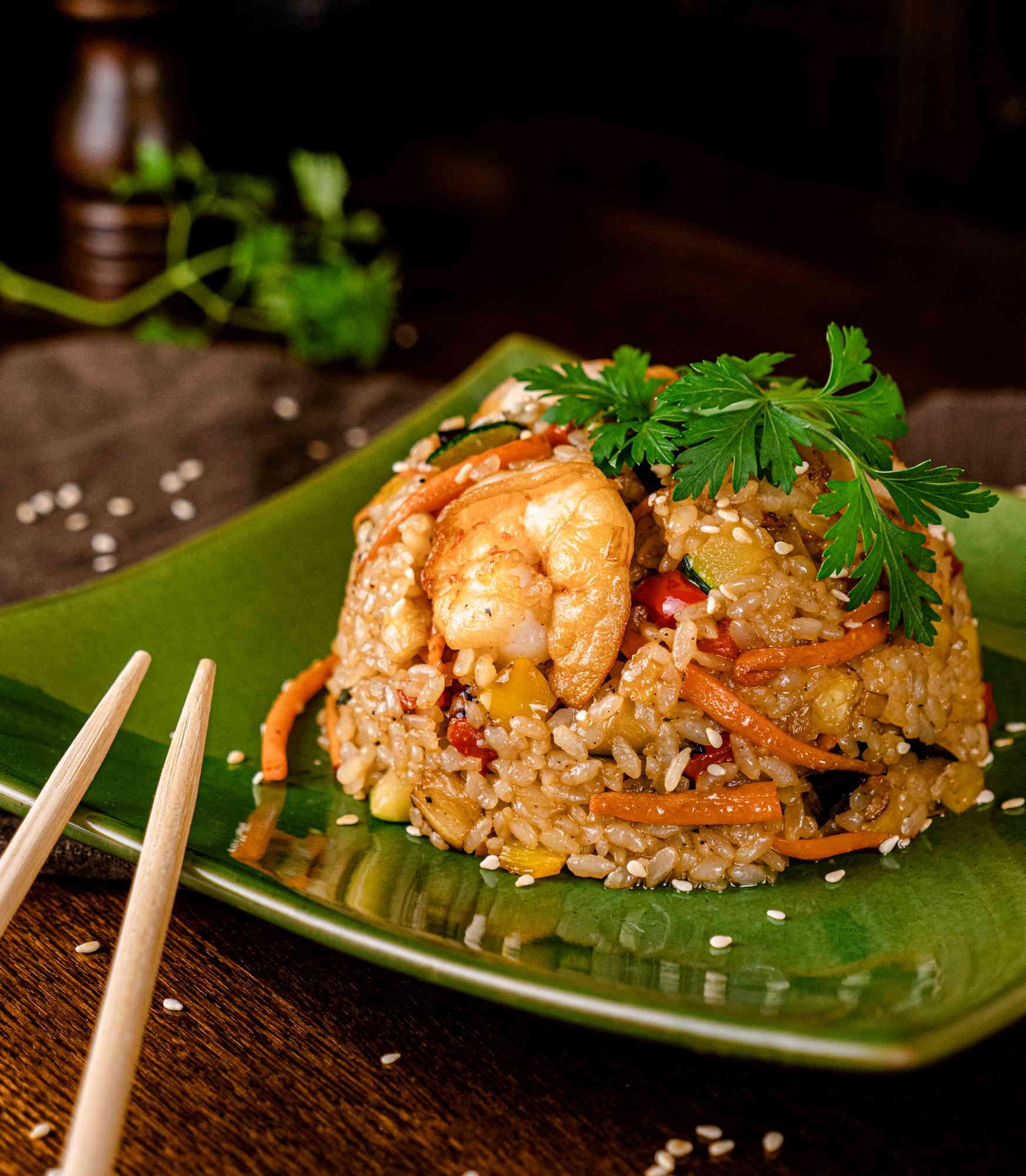 Рис Тяхан с креветками доставка суши и роллов в орле ресторан лабиринт