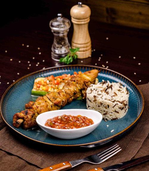 Куриные шашлычки в тайском стиле доставка в Орле ресторан Лабиринт