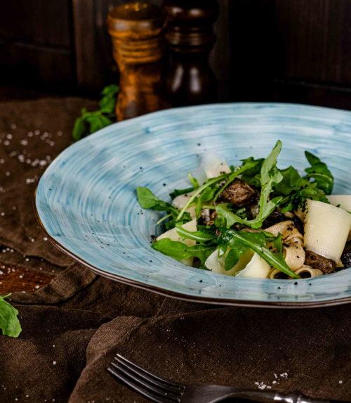 Тальятелле с лесными грибами и рукколой Доставка в Орле ресторан Лабиринт