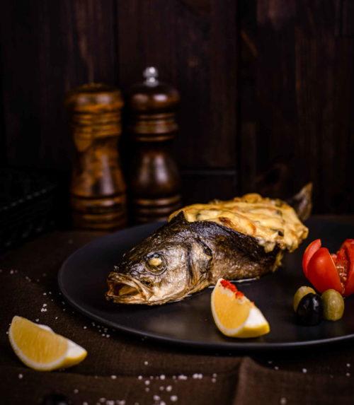 Сибас с овощным жульеном доставка ресторан Лабиринт в Орле