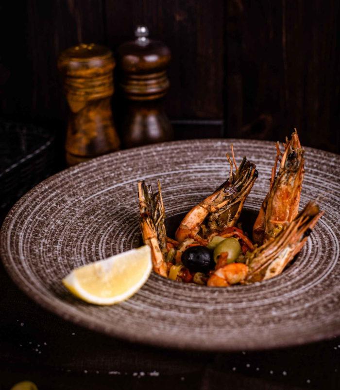 Тигровые креветки гриль доставка ресторан Лабиринт в Орле
